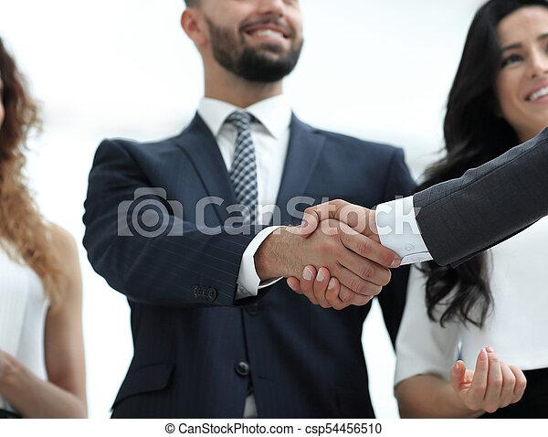 partenaires, poignée main, réunion, business - csp54456510
