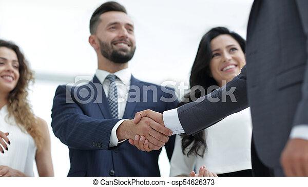 partenaires, poignée main, réunion, business - csp54626373