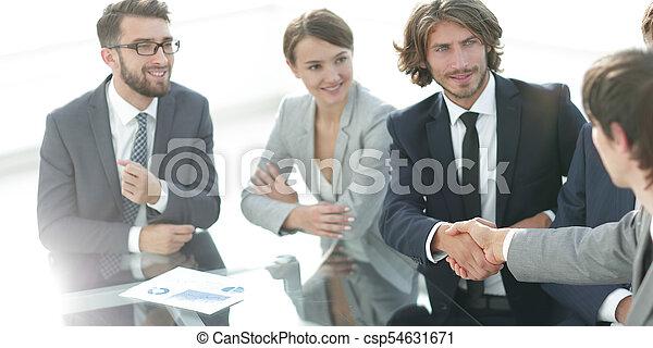 partenaires, poignée main, réunion, business - csp54631671