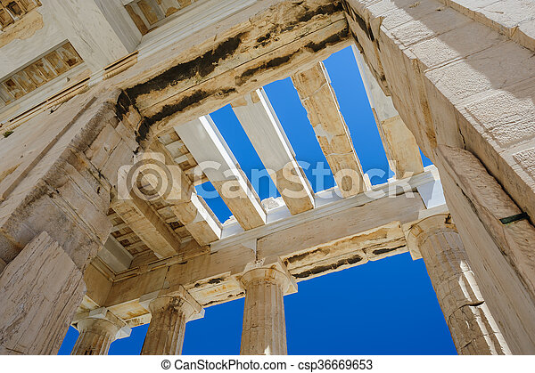 Parthenon columns at sky background - csp36669653