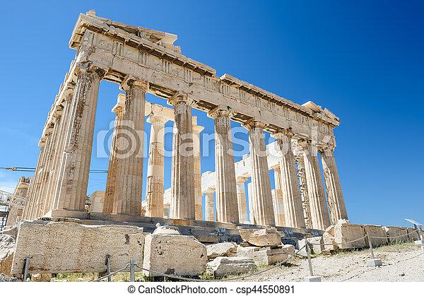Parthenon columns at sky background - csp44550891