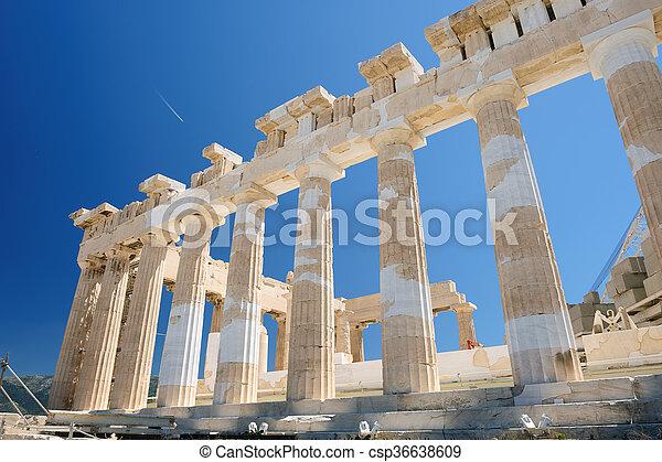 Parthenon columns at sky background - csp36638609