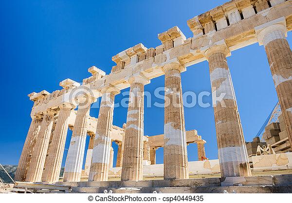 Parthenon columns at sky background - csp40449435