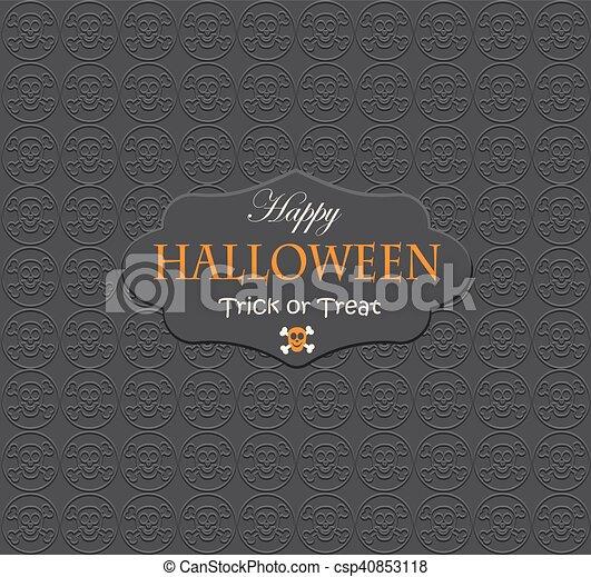parti, halloween, bakgrund, night. - csp40853118