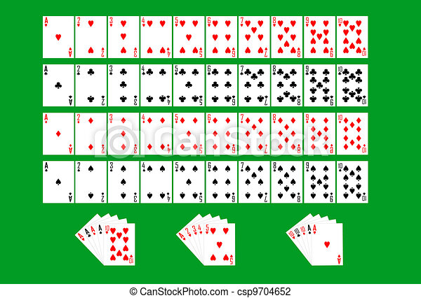 Partial deck of playing cards - csp9704652