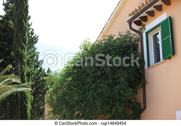 Partial view of a house - csp14649454