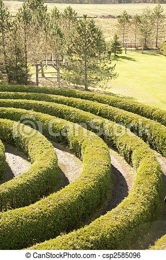 partial view of a maze - csp2585096