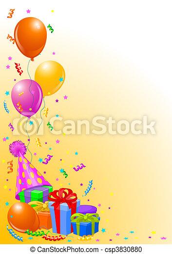 partido, aniversário, fundo - csp3830880