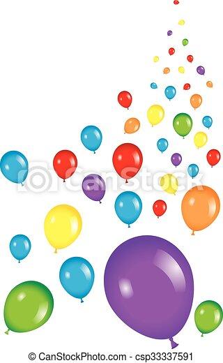 partido, balloon, fundo - csp33337591