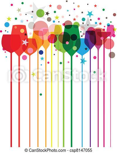 partido, coloridos, bebidas - csp8147055