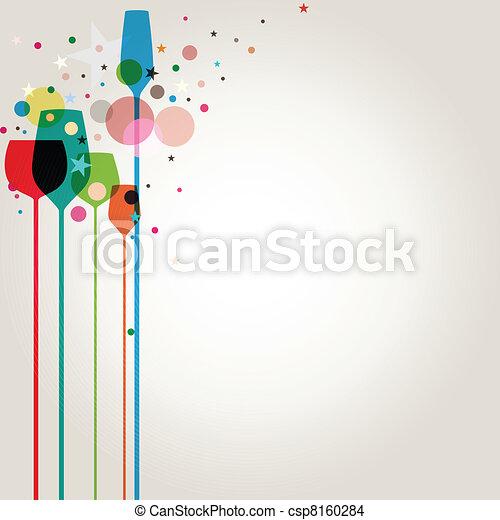 partido, coloridos, bebidas - csp8160284