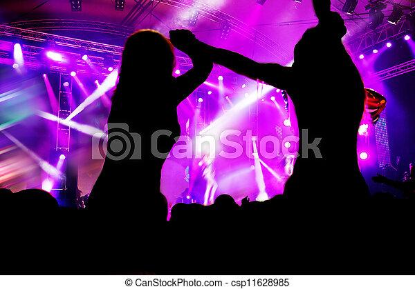 partido., concerto, música discoteca, pessoas - csp11628985