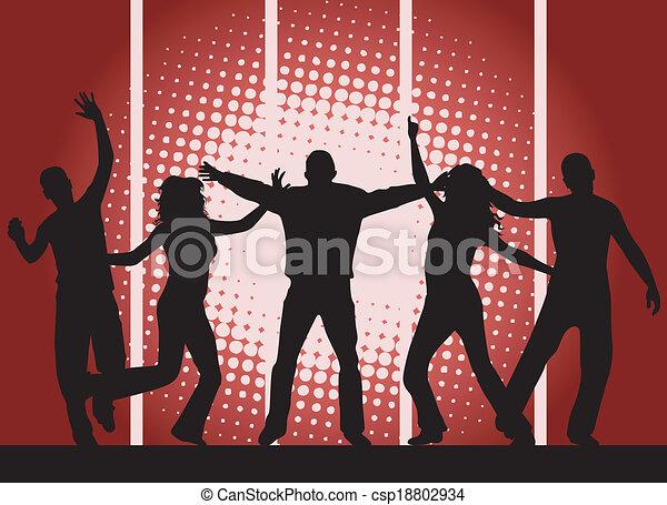 partido, -, experiência vermelha, pessoas - csp18802934
