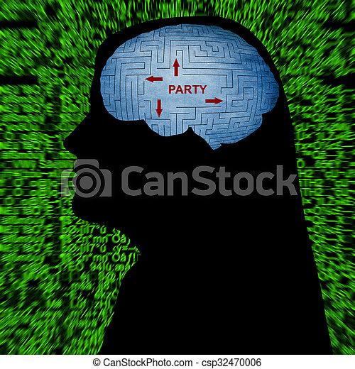 partido, mente - csp32470006