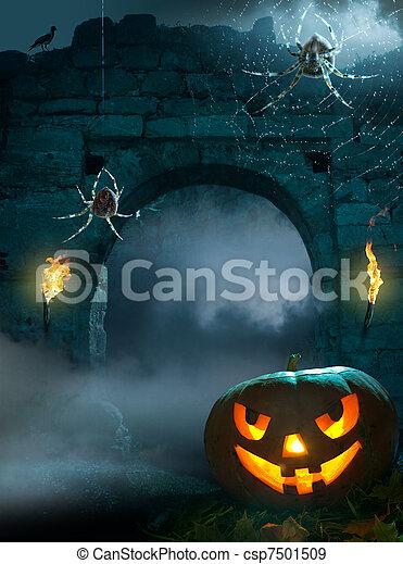 Designado para la fiesta de Halloween - csp7501509