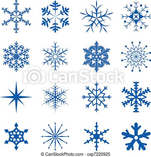 partie, flocons neige - csp7220925