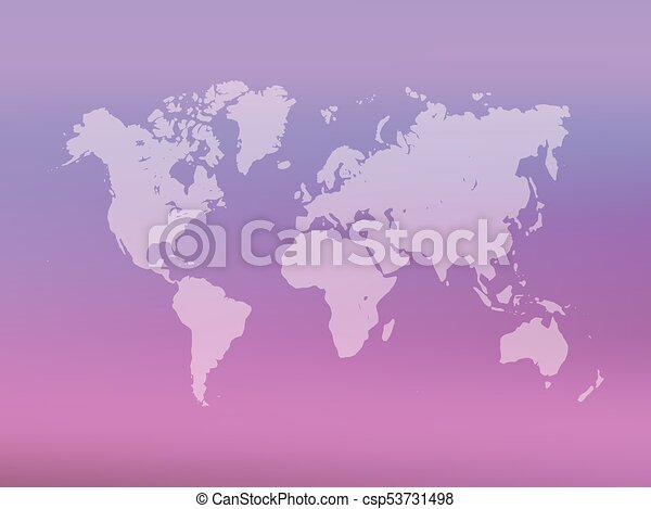 Partly transparent world map silhouette on pink gradient mesh partly transparent world map silhouette on pink gradient mesh background vector illustration gumiabroncs Choice Image