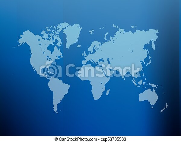 Partly transparent world map silhouette on blue gradient mesh partly transparent world map silhouette on blue gradient mesh background vector illustration gumiabroncs Images