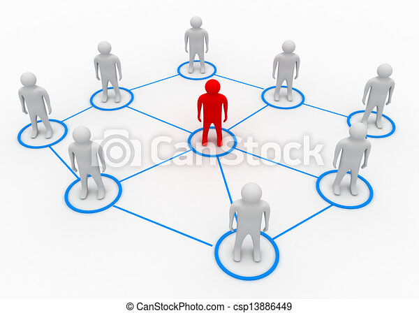 partner network concept - csp13886449