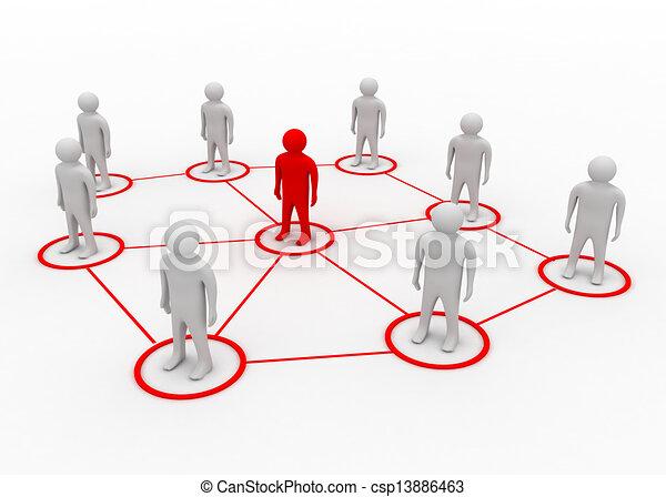 partner network concept - csp13886463