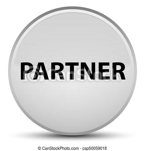 Partner special white round button - csp50059018