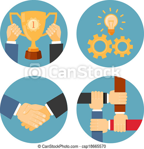 partnership and cooperation business illustrations - csp18665570