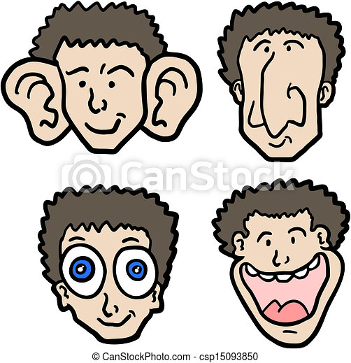parts of face creative design of parts of faces rh canstockphoto com free clipart face parts