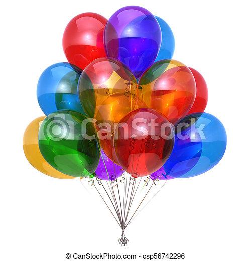 Party Balloon Bunch Happy Birthday Balloons Decoration Glossy