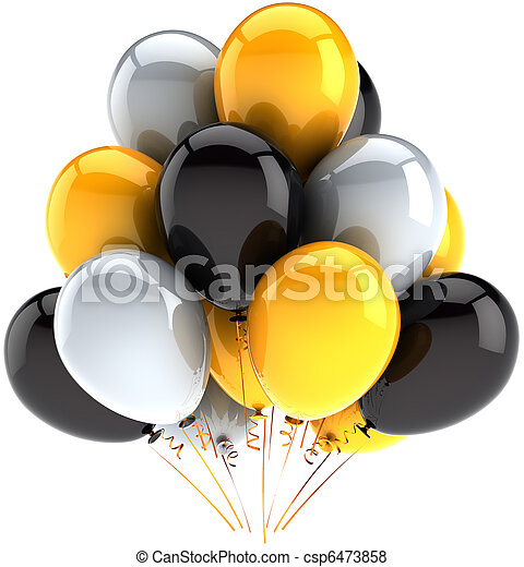 Party balloons birthday decoration - csp6473858