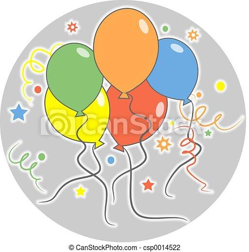 Party balloons - csp0014522
