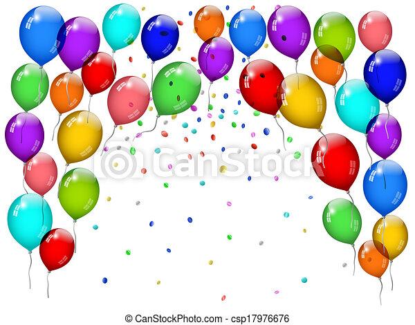 Party balloons - csp17976676