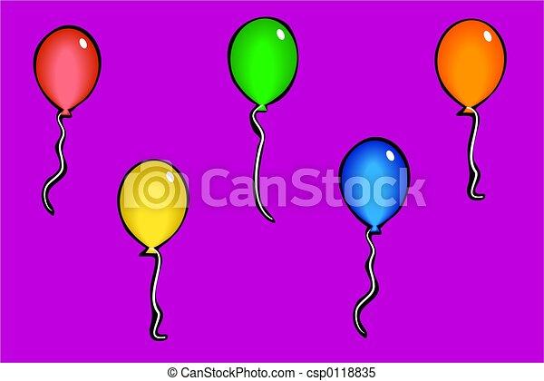 party balloons - csp0118835