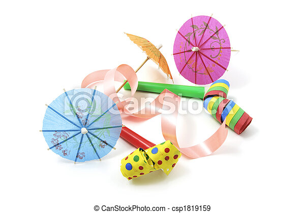 Party Blowers and Cocktail Umbrellas - csp1819159