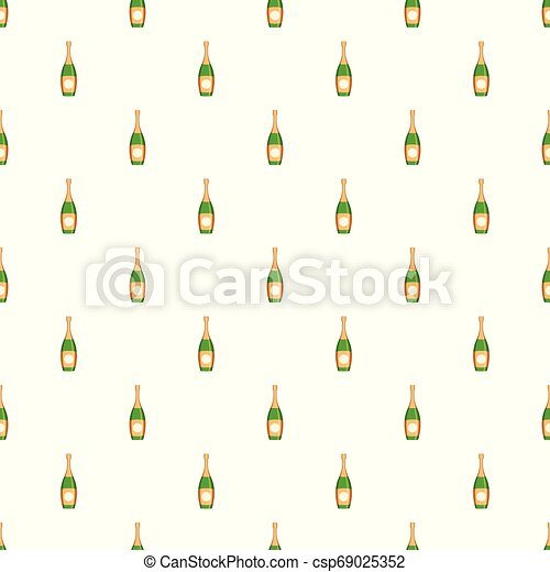 Party champagne pattern seamless vector - csp69025352
