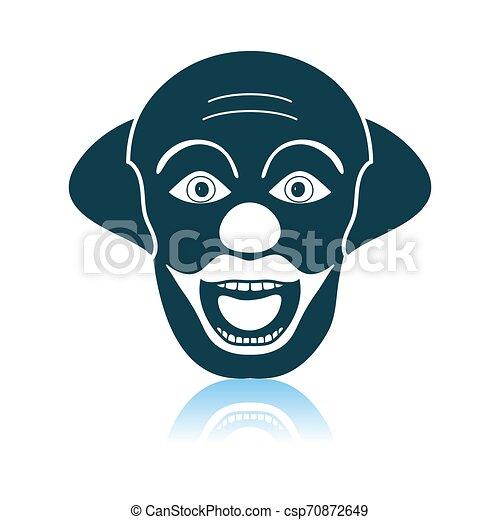 Party Clown Face Icon - csp70872649