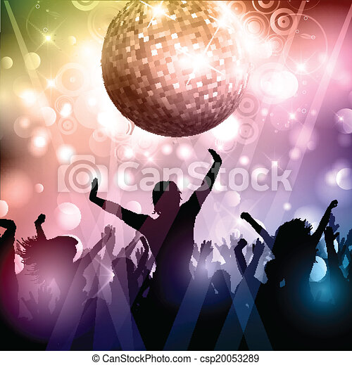 Party crowd - csp20053289