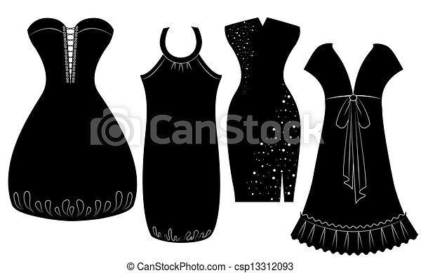 Party dresses for woman isolated on white - csp13312093