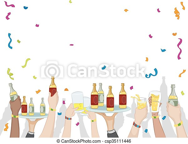 Party Drinks Confetti - csp35111446