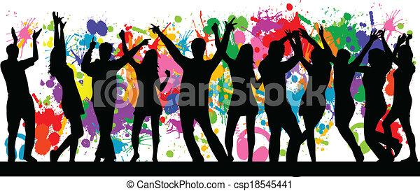 Party- grunge background - csp18545441