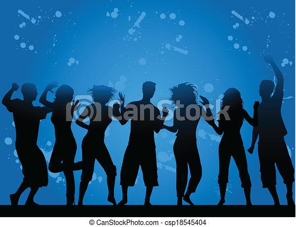 Party- grunge background - csp18545404