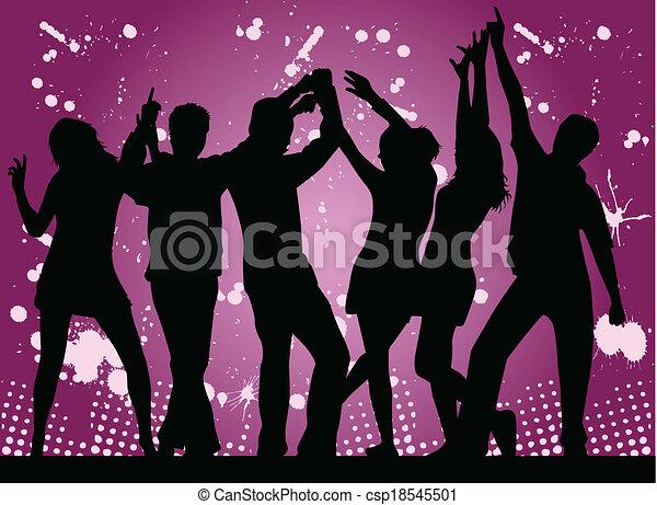 Party- grunge background - csp18545501