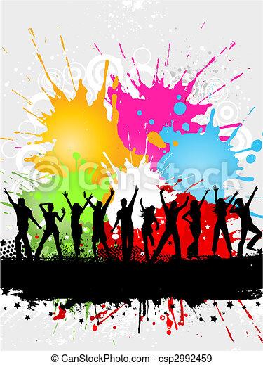 party, grunge, hintergrund - csp2992459