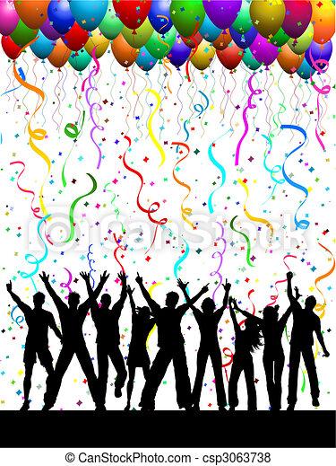 party, hintergrund - csp3063738