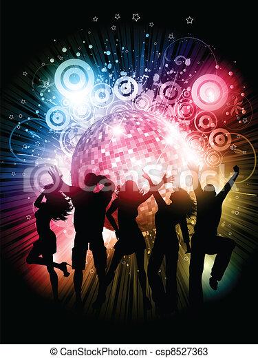 party, hintergrund - csp8527363