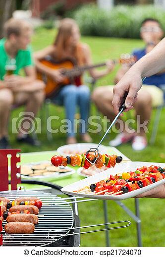 Party in a garden - csp21724070