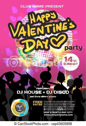 Party, kugel, frauen, valentines, einladung, klub, disko, vektor ...