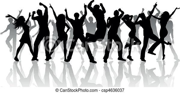 party, leute - csp4636037