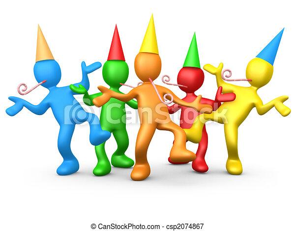 party, leute - csp2074867