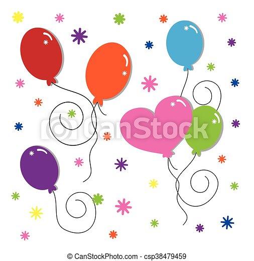 party, luftballone - csp38479459