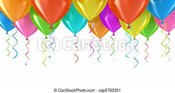 party, luftballone - csp5763351